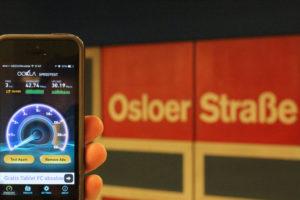 BVG Free Wi-Fi Trial at U-Bahnhof Osloer Straße