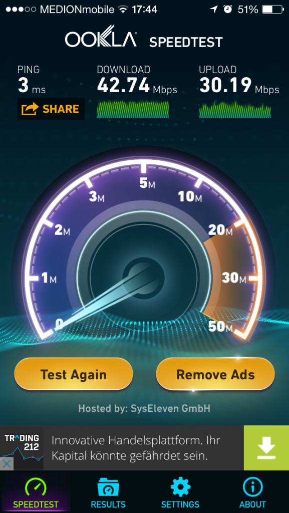 BVG Free Wi-Fi Trial at U-Bahnhof Osloer Straße Berlin Test Result