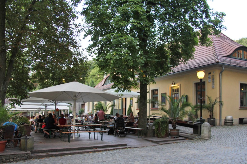 Braumanufaktur Forsthaus Templin, a beer garden and restaurant in an old forester's house on the edge of the Templiner See (Lake Templin) outside Berlin