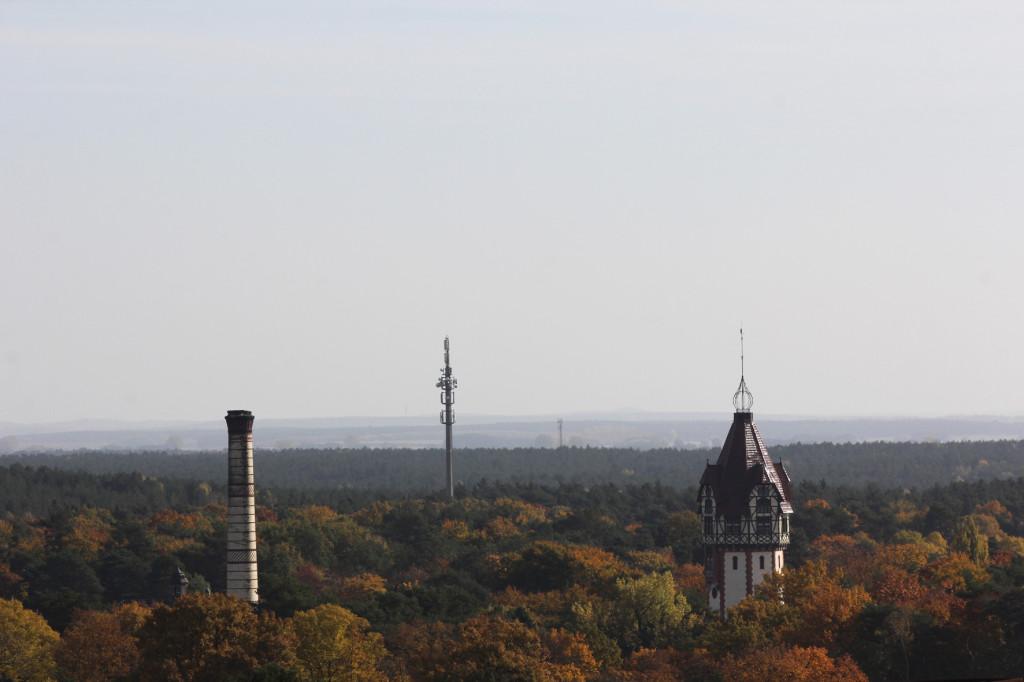 Four Towers seen from the Treetop Walkway of the Baumkronenpfad Beelitz-Heilstätten near Berlin