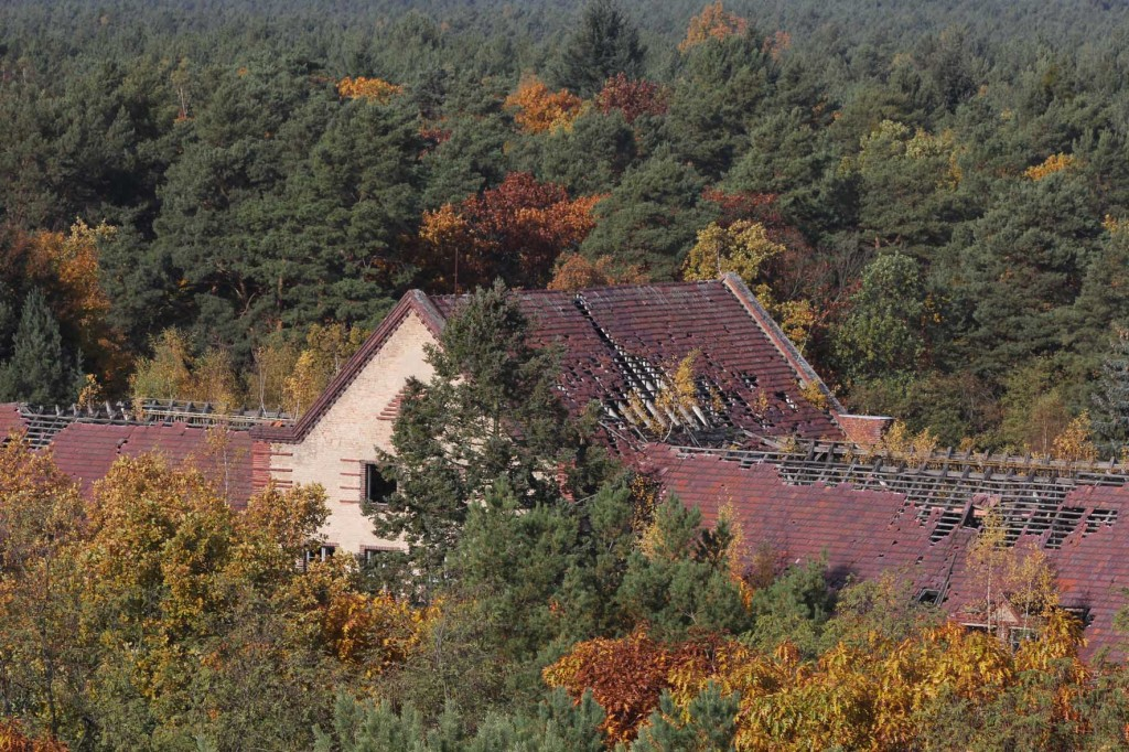 The Surgery Pavilion (Chirurgie) seen from the treetop walkway of Baumkronenpfad Beelitz-Heilstätten near Berlin