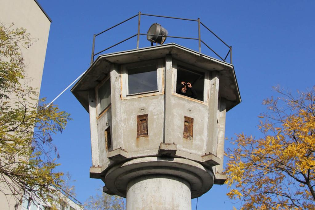 Berlin Wall Watchtower Near Potsdamer Platz AndBerlin