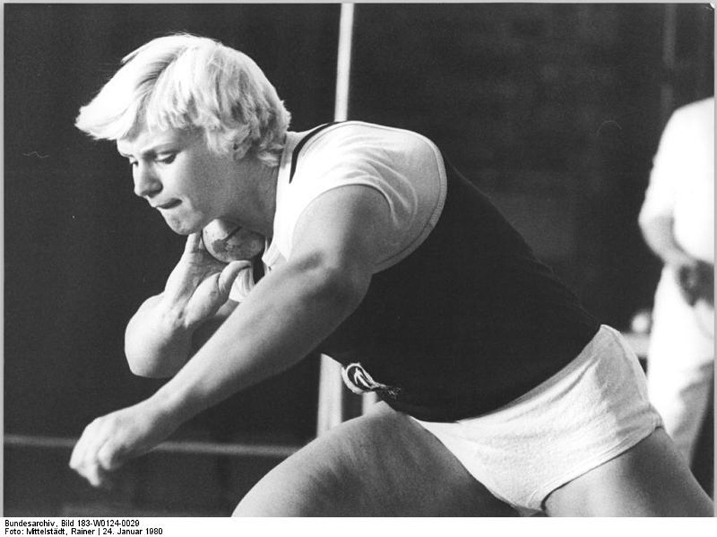 East German shot putter Ilona Splupianek - Photo by Rainer Mittelstädt from the Bundesarchiv