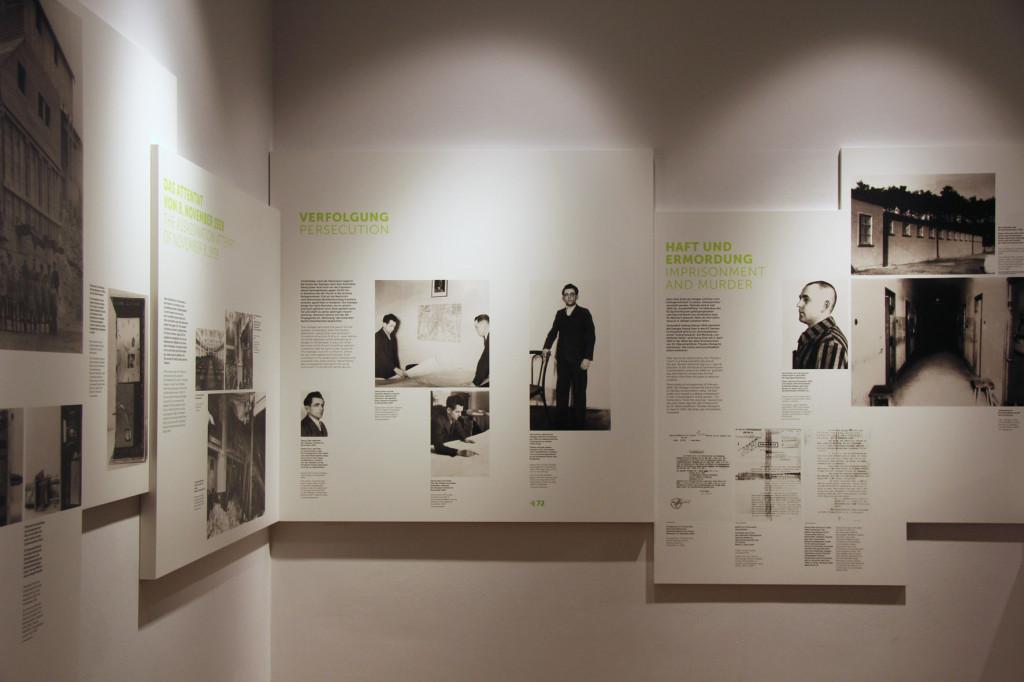 Georg Elser Plot Display at the German Resistance Memorial Centre (Gedenkstätte Deutscher Widerstand) in the Bendlerblock in Berlin
