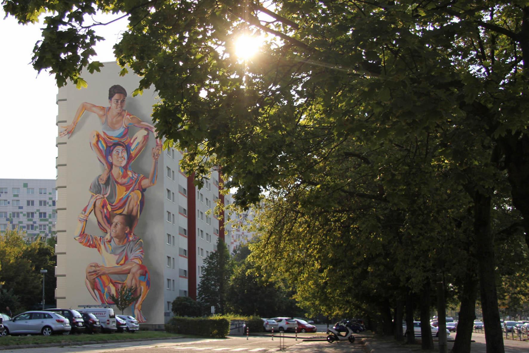 Totem Mural By Jbak In Berlin Lichtenberg Andberlin