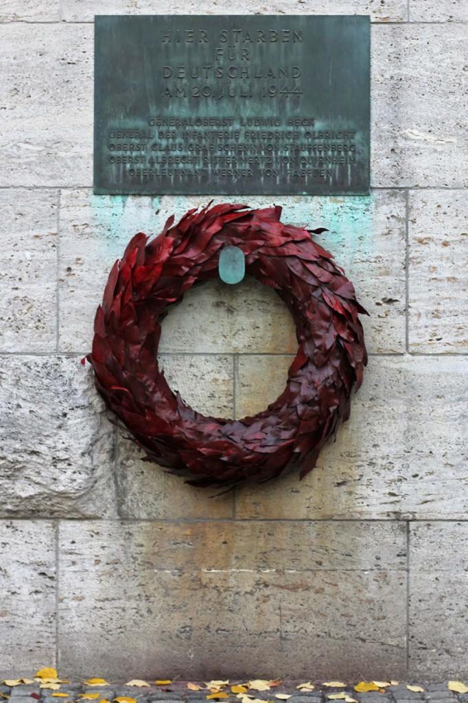 Memorial Plaque at the German Resistance Memorial Centre (Gedenkstätte Deutscher Widerstand) in the Bendlerblock in Berlin