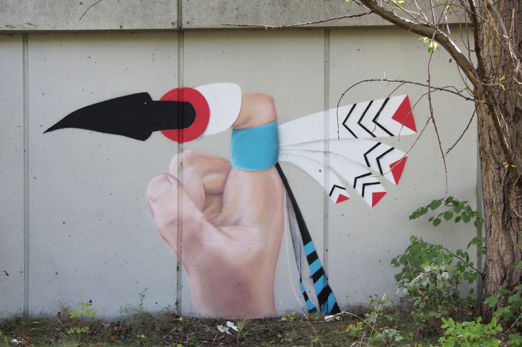 Street Art at the Abandoned Motorway Extension - Westtangente in Berlin