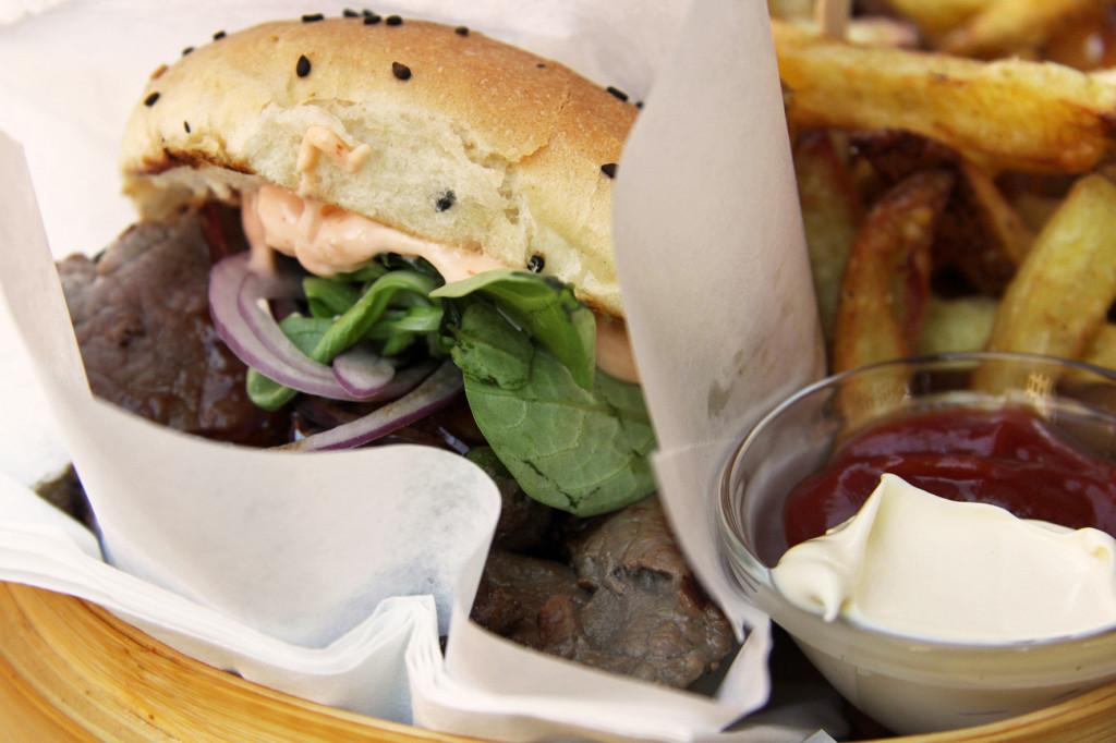 Bulgogi Burger with Homemade Fries at Shiso Burger Berlin