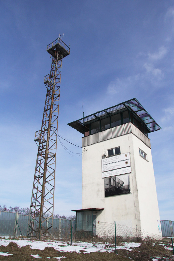 Control Tower at The Memorial to the Division of Germany in Marienborn (Gedenkstätte Deutsche Teilung Marienborn) at Checkpoint Alpha