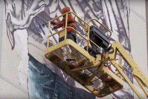 Fintan Magee Berlin Mural 'Cycle of Life': VIDEO