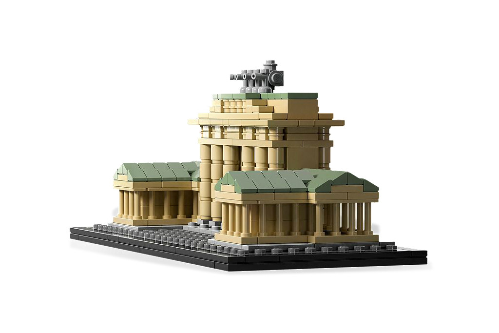 LEGO Architecture Brandenburg Gate - A partial side view of the 363 piece Brandenburg Gate set in the LEGO Architecture Landmark series - Photo ©LEGO
