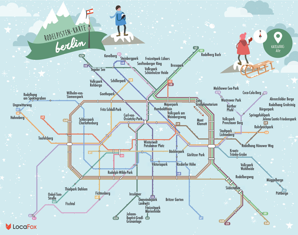 Berlin Christmas Markets Map Berlin Sledging Map – Where to hit the slopes   Berlin Love Berlin Christmas Markets Map