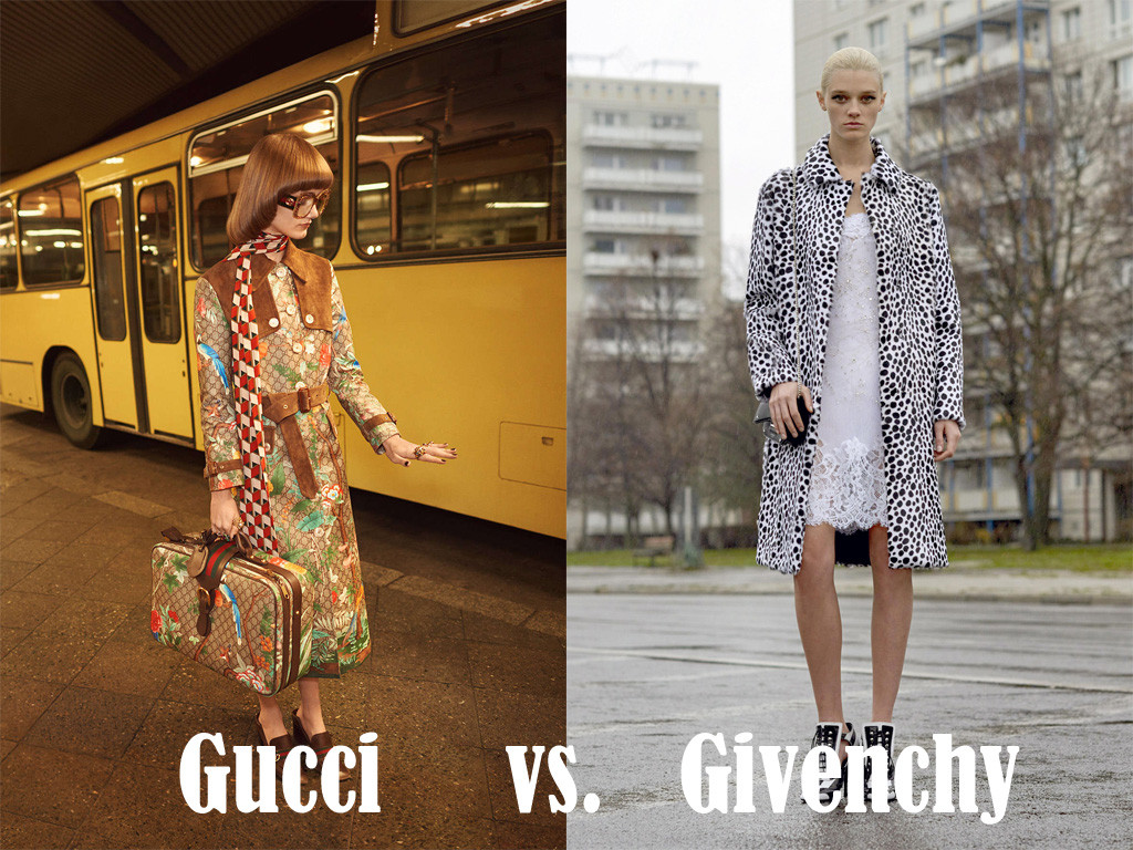 Berlin Style - Gucci vs Givenchy - A comparison of images from the Gucci Spring Summer 2016 and Givenchy Pre Fall 2016 ad campaigns shot in Berlin