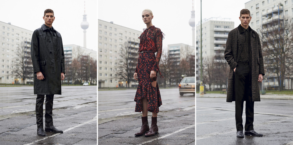 A selection of looks from the Givenchy Pre Fall 2016 ad campaign shot by Max von Gumppenberg and Patrick Bienert for Riccardo Tisci on the Karl-Marx-Allee in Berlin