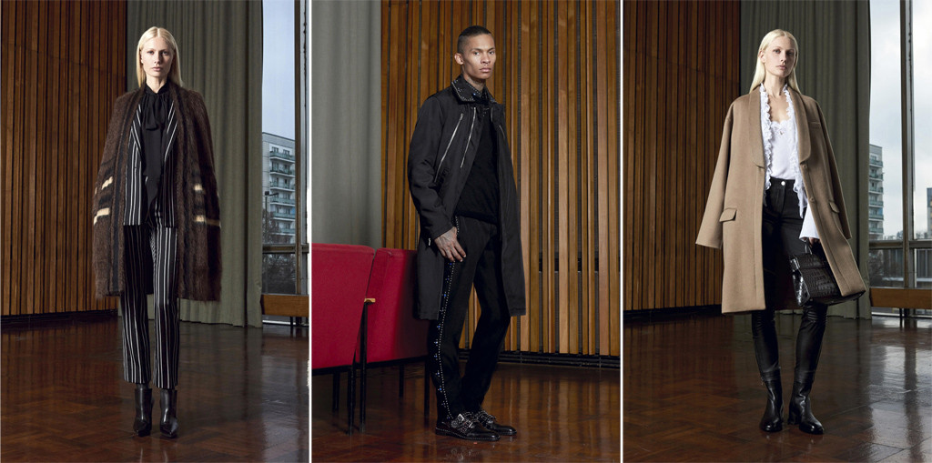 A selection of looks from the Givenchy Pre Fall 2016 ad campaign shot by Max von Gumppenberg and Patrick Bienert for Riccardo Tisci in the Kino International in Berlin