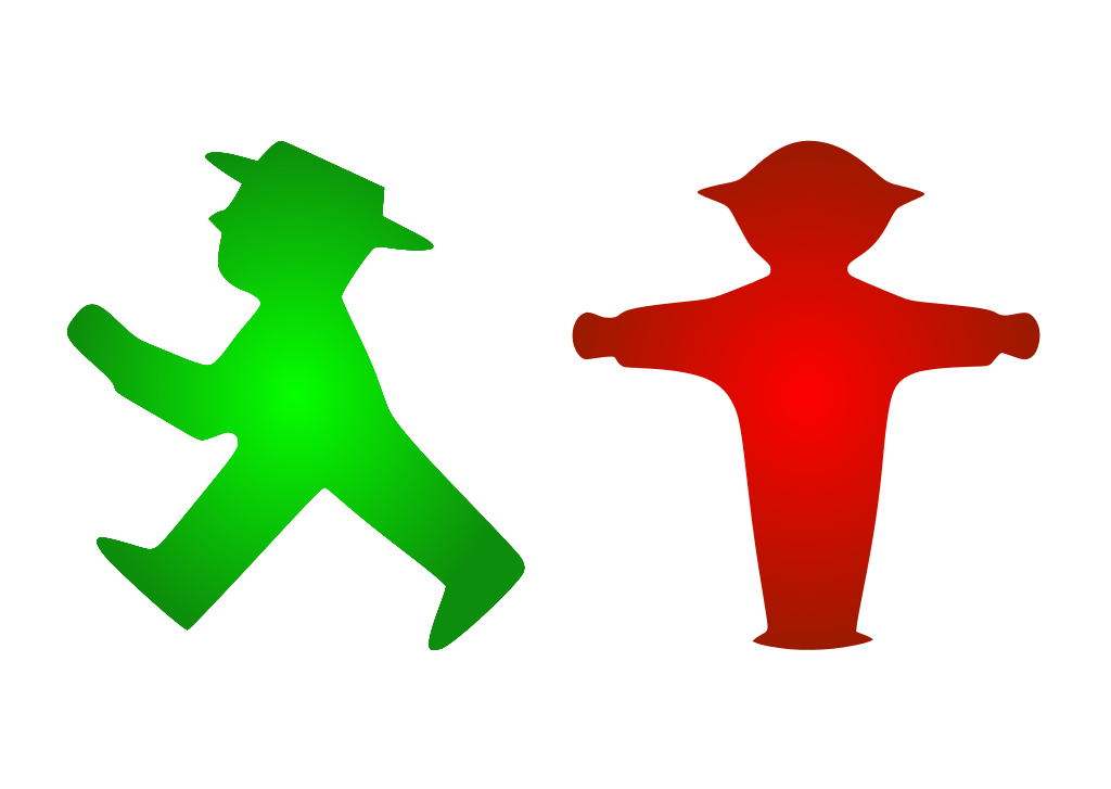 The Karl Peglau design for the East German pedestrian light - the Ampelmann / Ampelmännchen