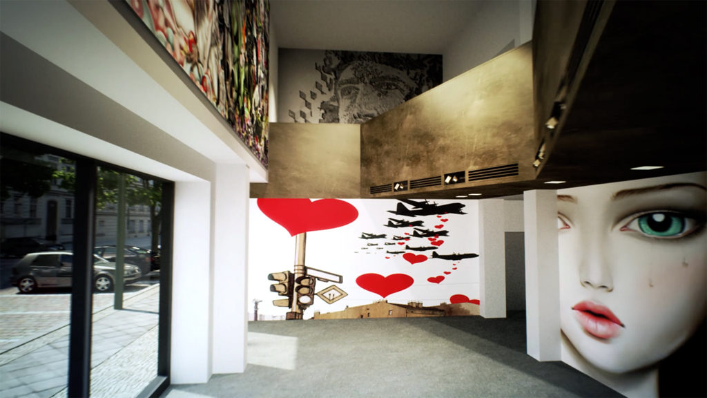 Rendering of the interior for the proposed Urban Nation Museum for Urban Contemporary Art to plans by GRAFT Architects - Photo: URBAN NATION