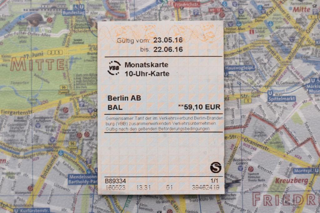 10-Uhr Monatskarte Berlin