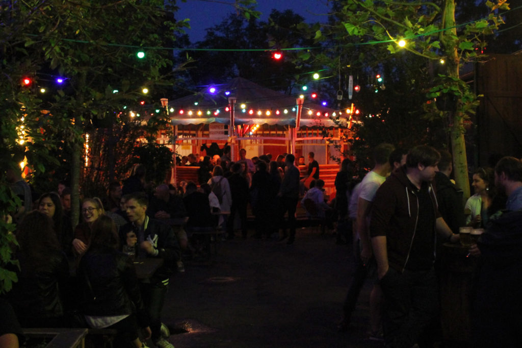 After Dark at Birgit & Bier Beer Garden Berlin