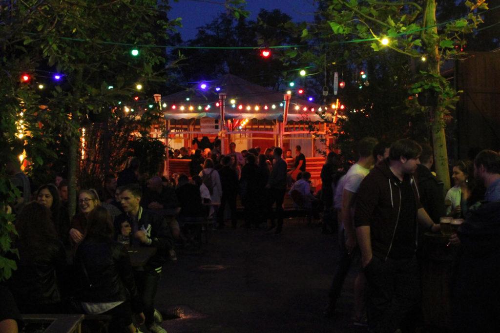 After Dark at Birgit & Bier Beer Garden Berlin