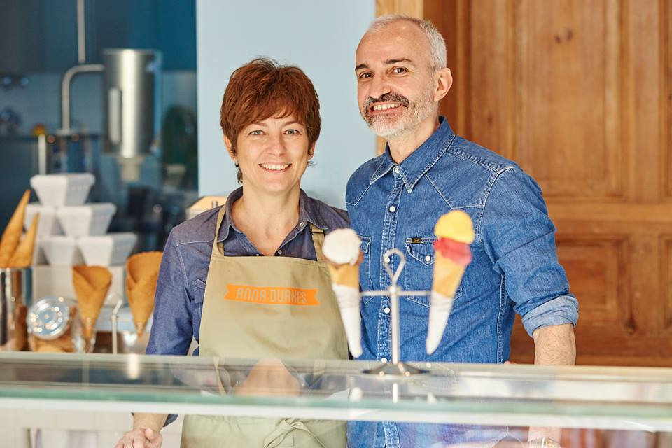 Anna Luisa and Giorgio Sau, owners of Anna Durkes ice cream shop in Berlin - photo Anna Durkes / Facebook