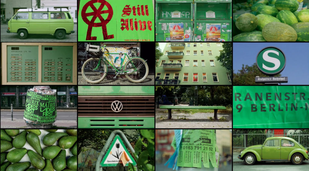 Berlin in Green - screenshot from BERLIN (CLASSIFIED) by Julien Patry