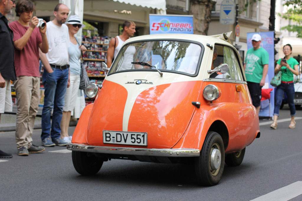 BMW Isetta 300 bubble car at Classic Days Berlin - an annual classic car event held on the Kurfürstendam