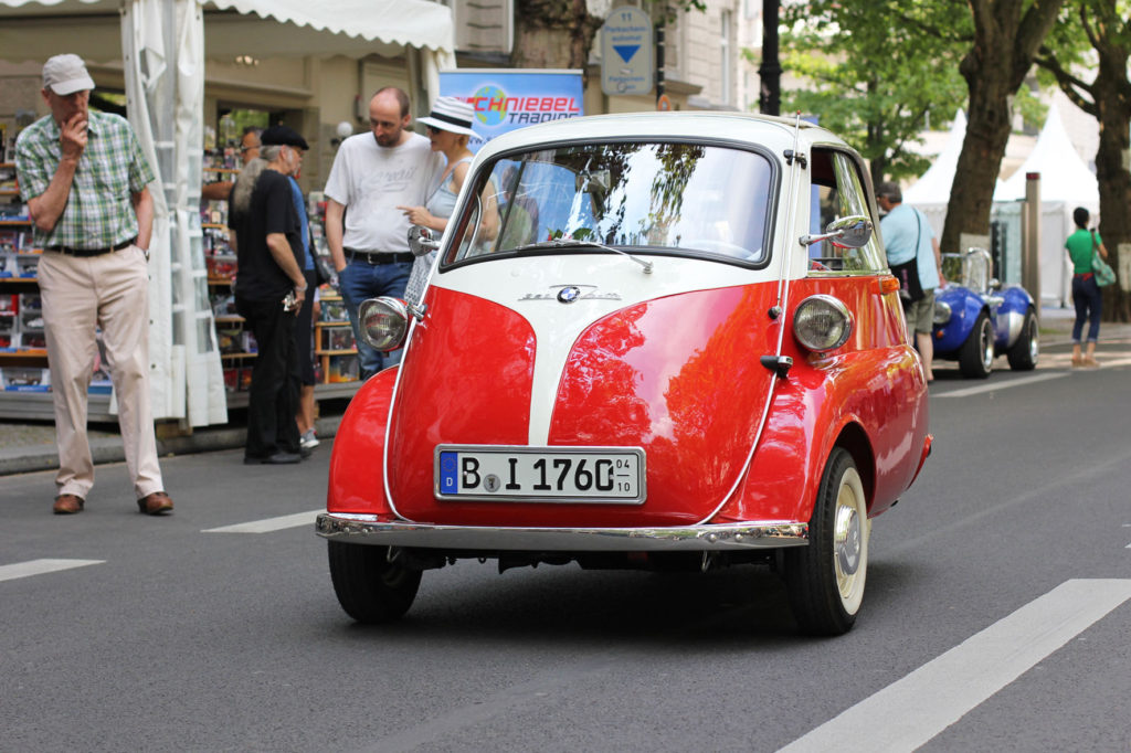 BMW Isetta bubble car at Classic Days Berlin - an annual classic car event held on the Kurfürstendam