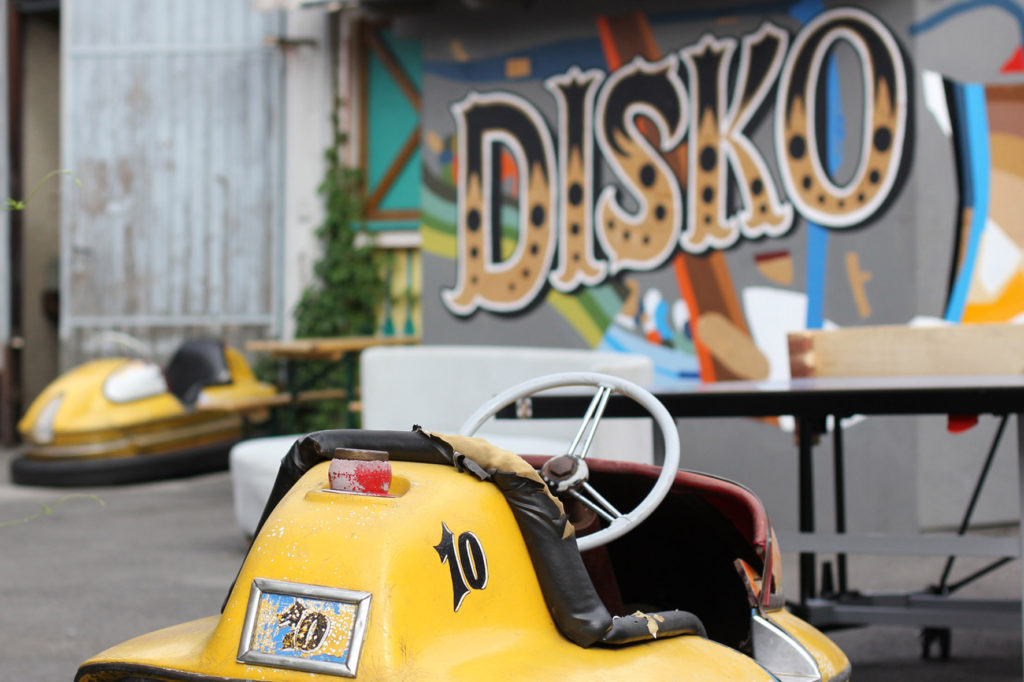 Dodgems at Birgit & Bier Beer Garden Berlin