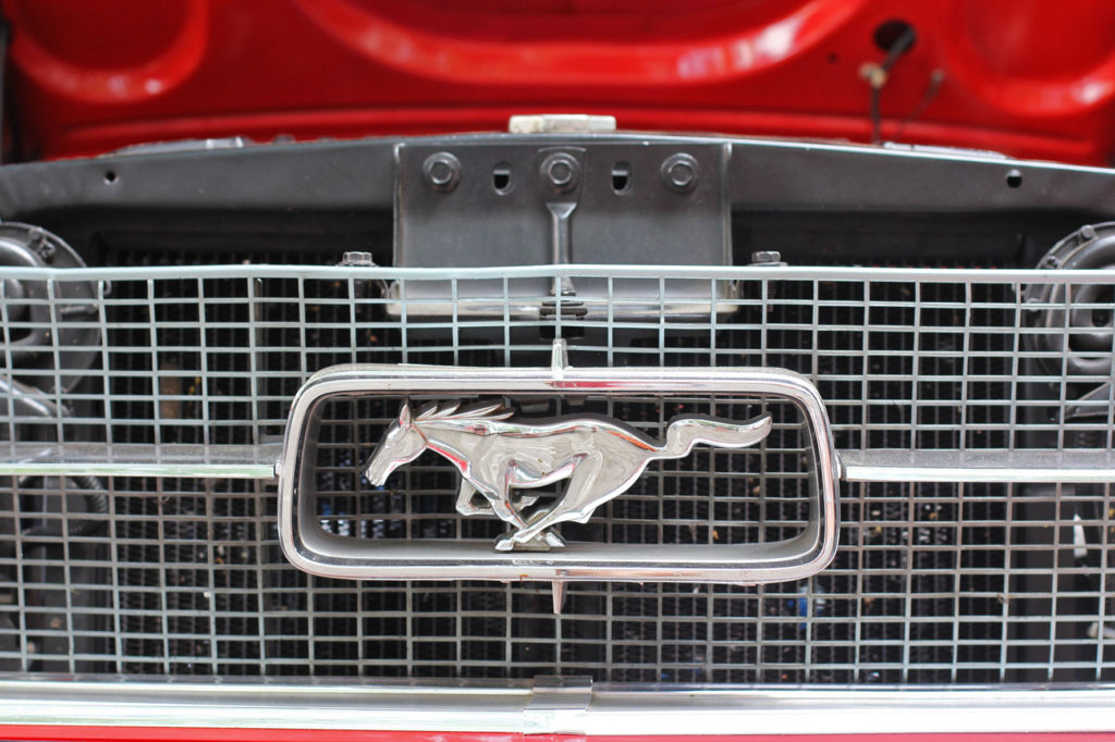 Ford Mustang Emblem and Grill at Classic Days Berlin - an annual classic car event held on the Kurfürstendam