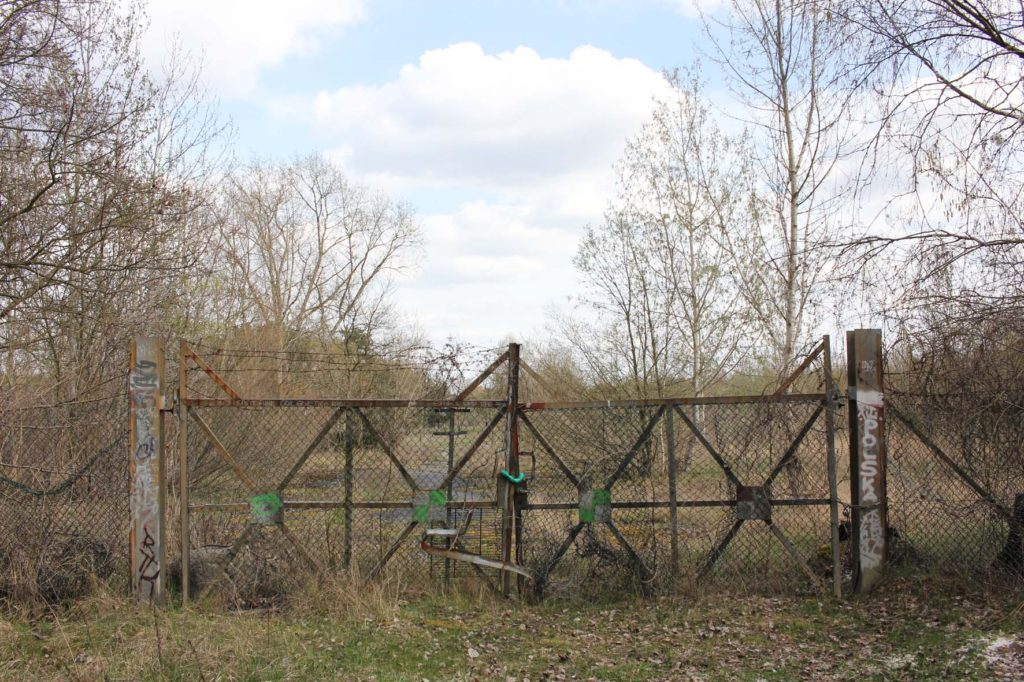 The back gate at Parks Range Doughboy City - a former military training ground of the US Army Berlin Brigade