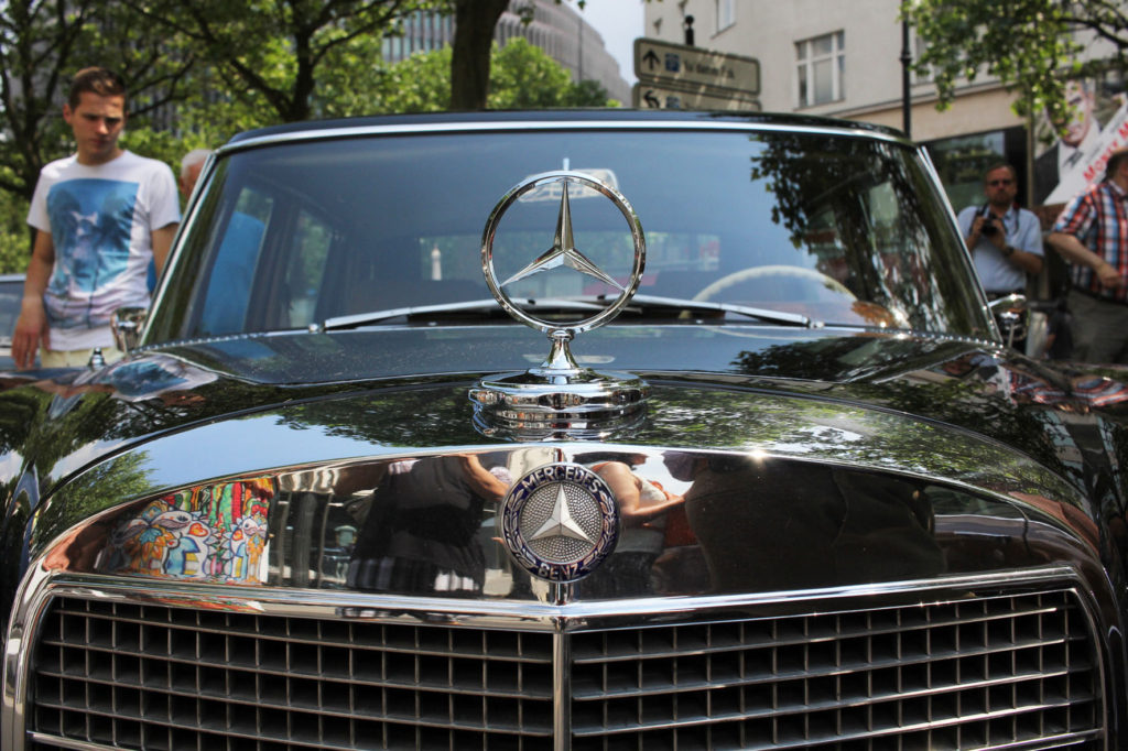 Black Mercedes at Classic Days Berlin - an annual classic car event held on the Kurfürstendam