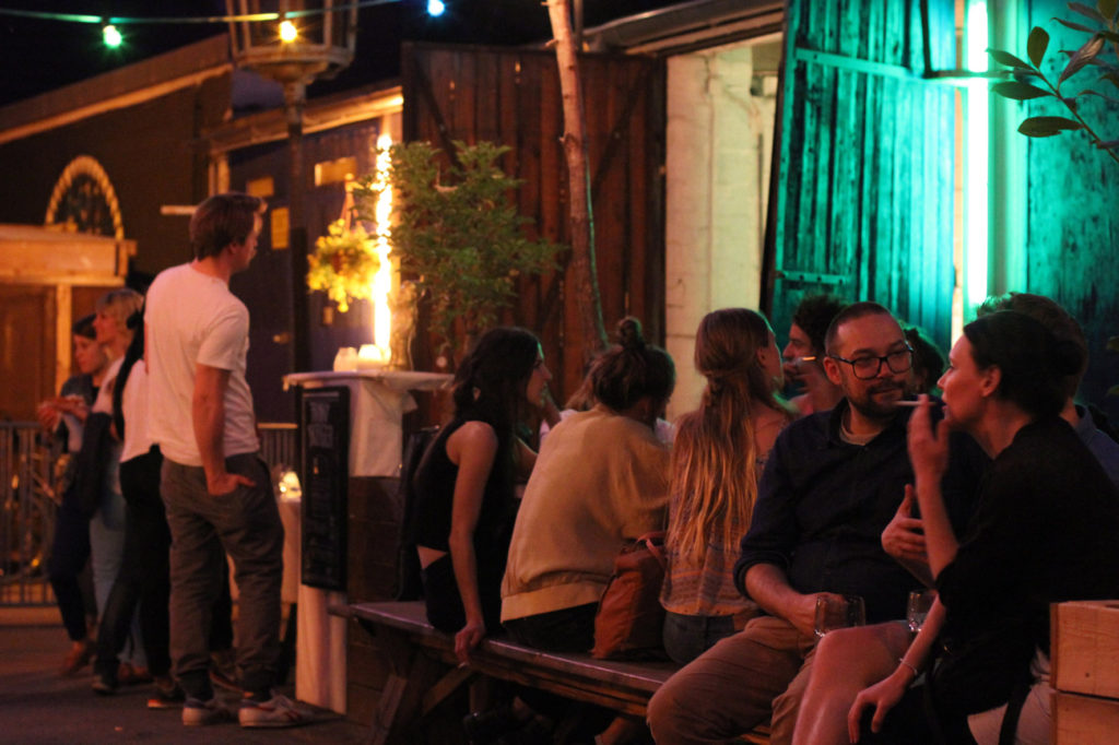 Night Time Drinkers at Birgit & Bier Beer Garden Berlin