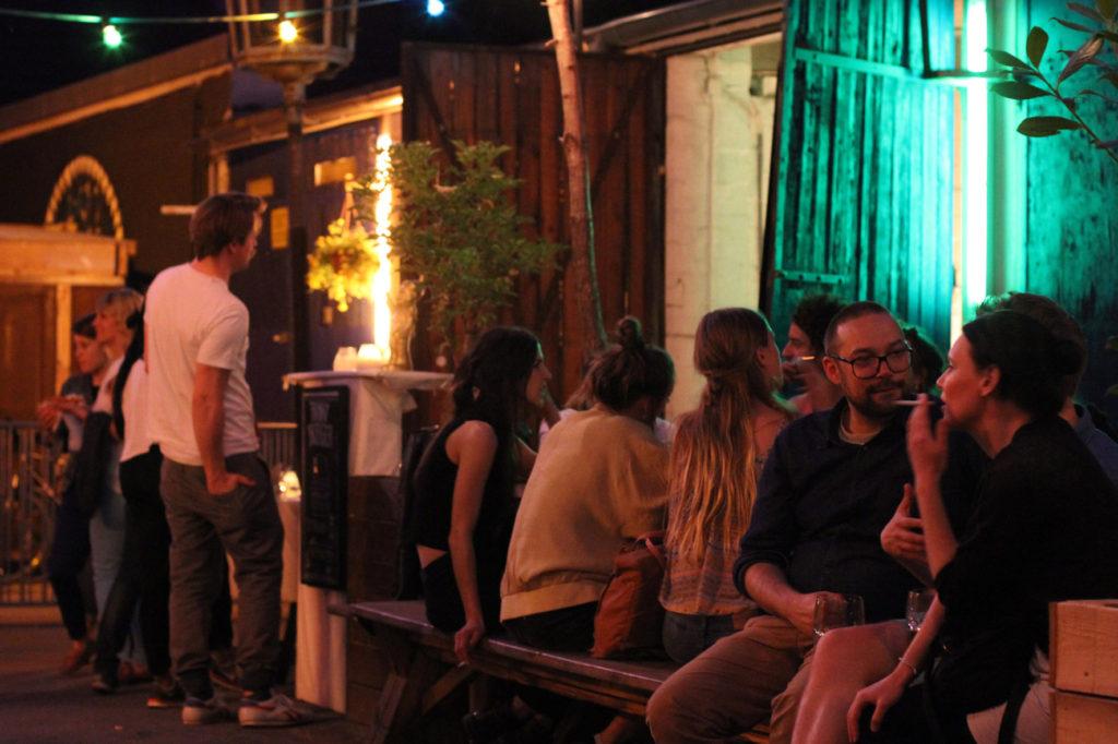 Night Time Drinkers at Birgit & Bier Beer Garden Berlin