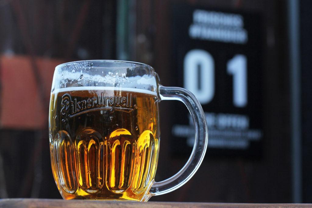 Pilsner Urquell Tank Beer at Birgit & Bier Beer Garden Berlin