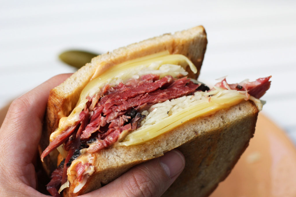 Reuben Sandwich at Louis Pretty Berlin, the latest venture from Oskar Melzer and James and David Ardinast
