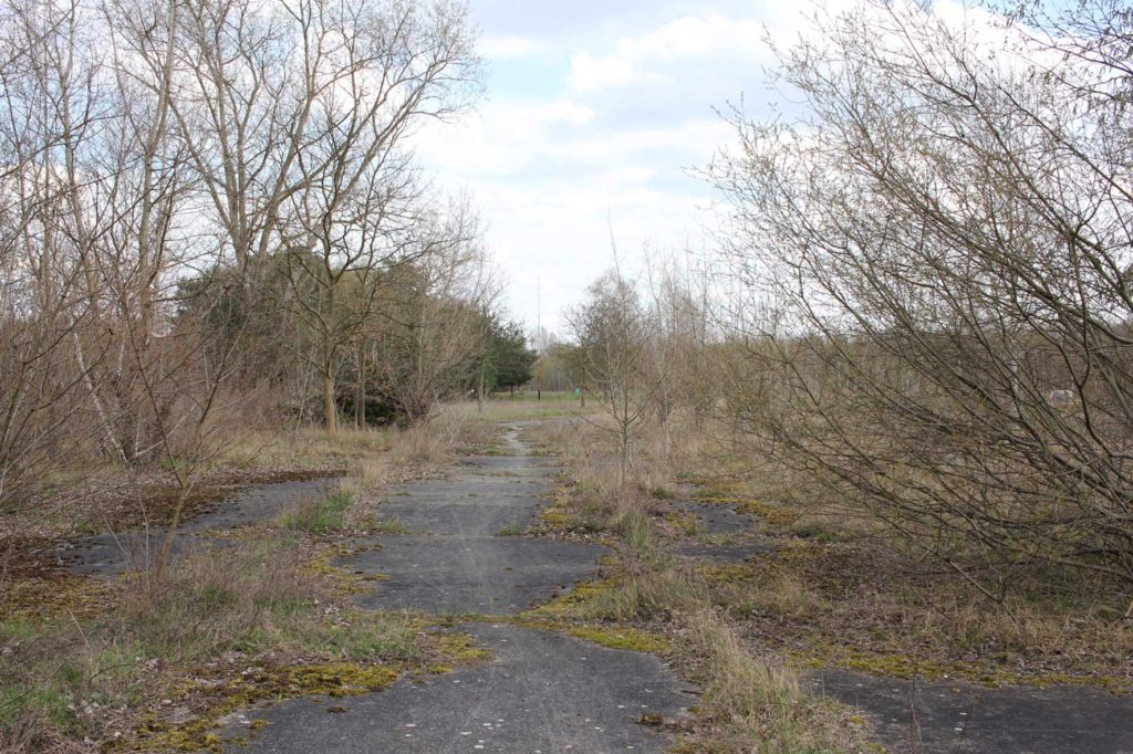 Concrete road at Parks Range Doughboy City - a former military training ground of the US Army Berlin Brigade