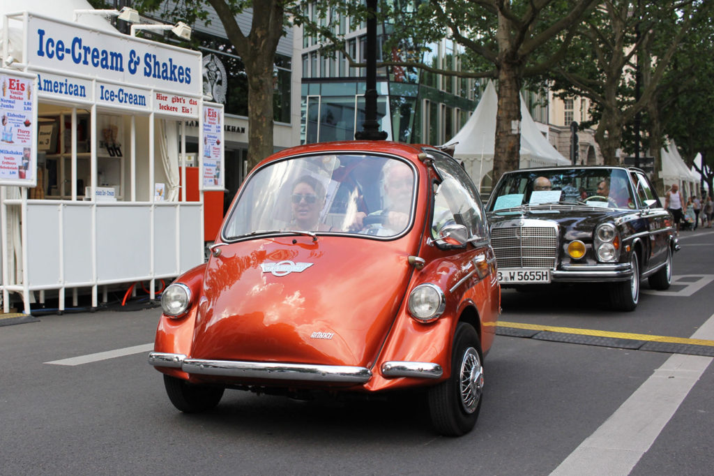 Trojan Heinkel Bubble Car at Classic Days Berlin - an annual classic car event held on the Kurfürstendam