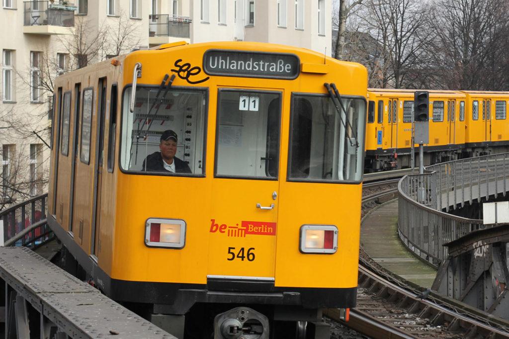 U-Bahn - U1 Coming Into Schlesisches Tor Berlin