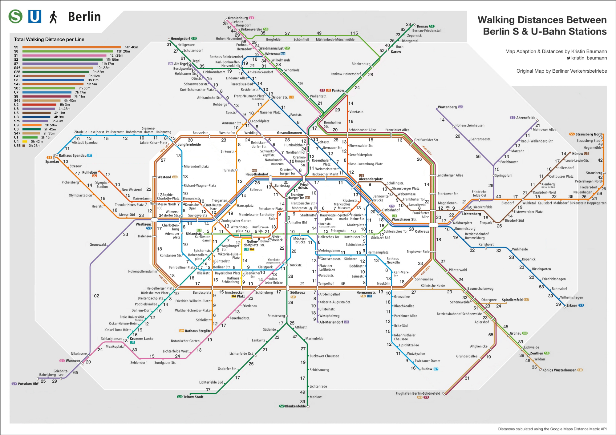 Berlin Maps S U Bahn Walking Map By Kristin Baumann Berlin Love
