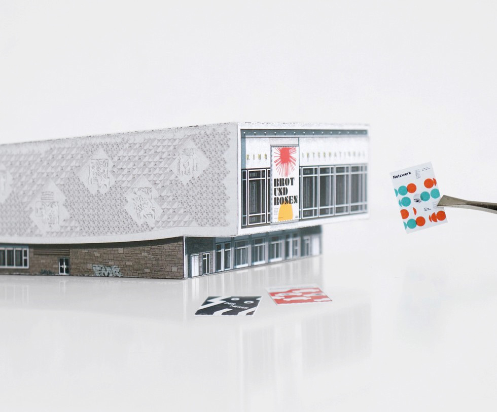 Kino International from MODERN EAST. Build Your Own Modernist DDR - a set of 9 paper models of GDR Architecture to cut out and assemble by Zupagrafika.