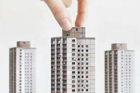 Ernst-Thälmann-Park Housing Complex from MODERN EAST. Build Your Own Modernist DDR - a set of 9 paper models of GDR Architecture to cut out and assemble by Zupagrafika.