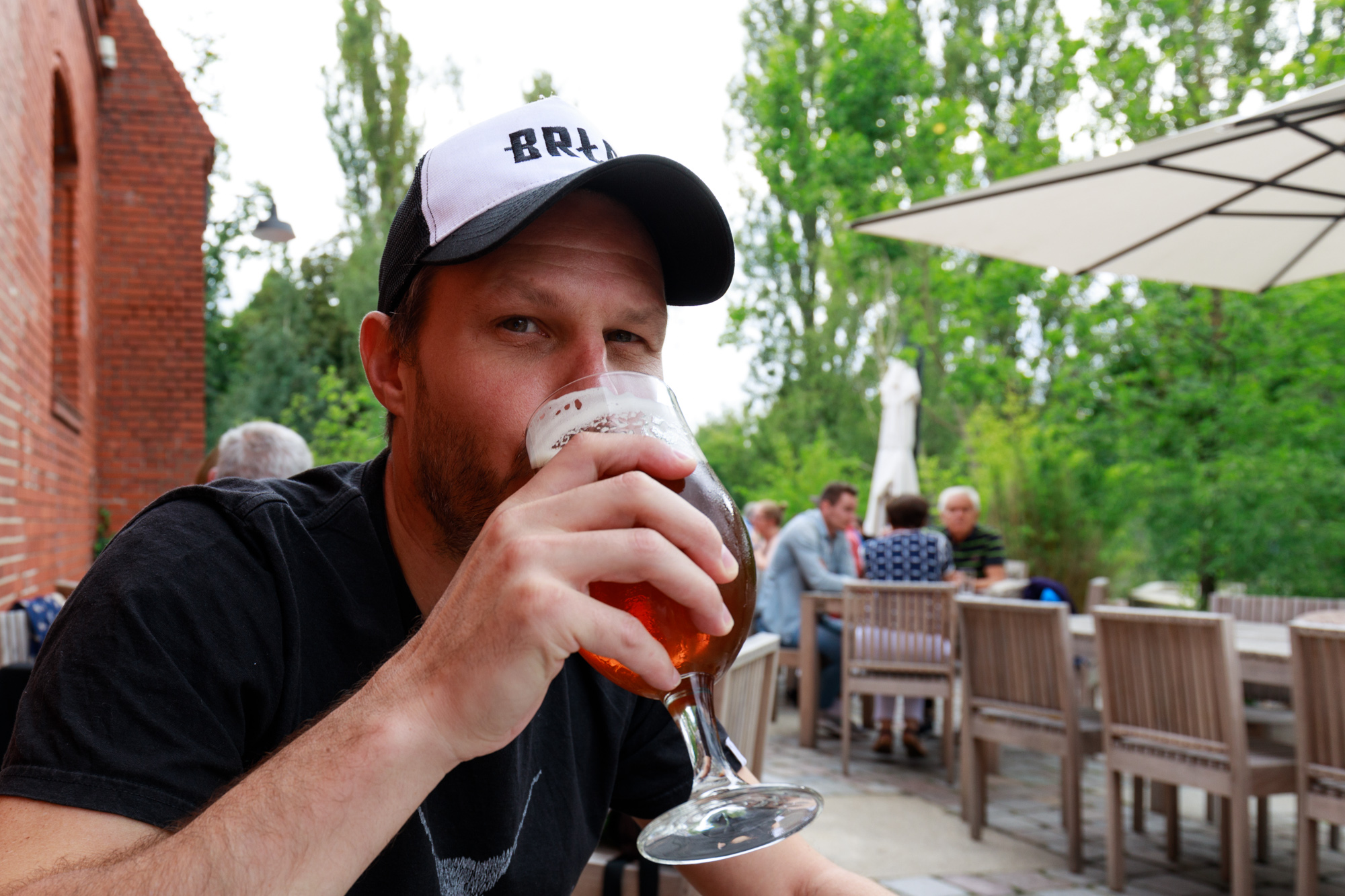 Enjoying a Stone Ripper at Stone Brewing Berlin, the European headquarters of the US craft brewer in the former Marienfedorf gasworks