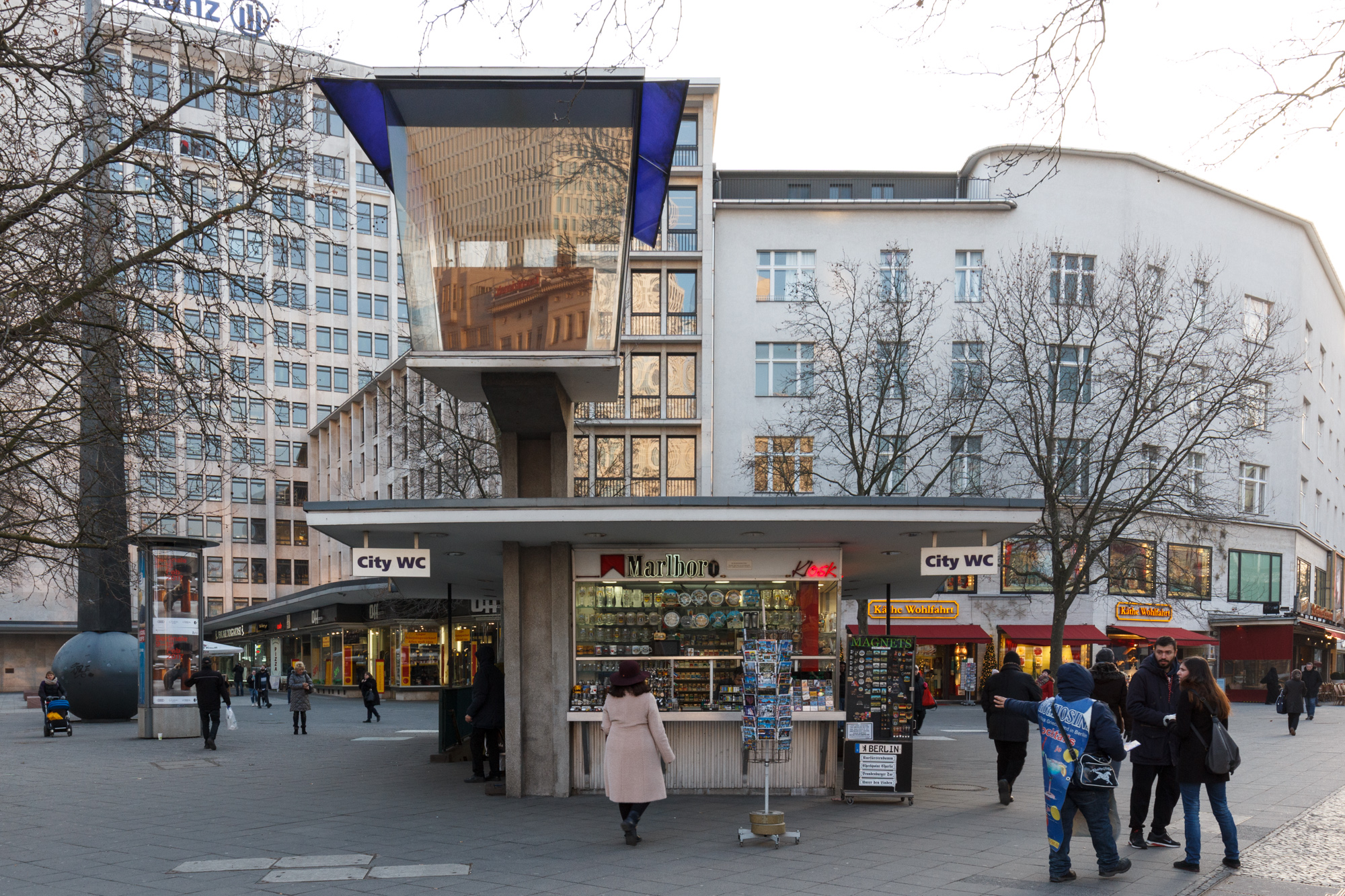 The Verkehrskanzel, a 1950s Traffic Control Pulpit on the corner of Kurfürstendamm and Joachimstaler Straße in Berlin