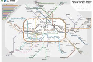 Berlin Maps: S- & U-Bahn Walking Map by Kristin Baumann