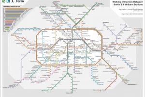 Berliner Karten: Die S- & U-Bahn-Wanderkarte von Kristin Baumann
