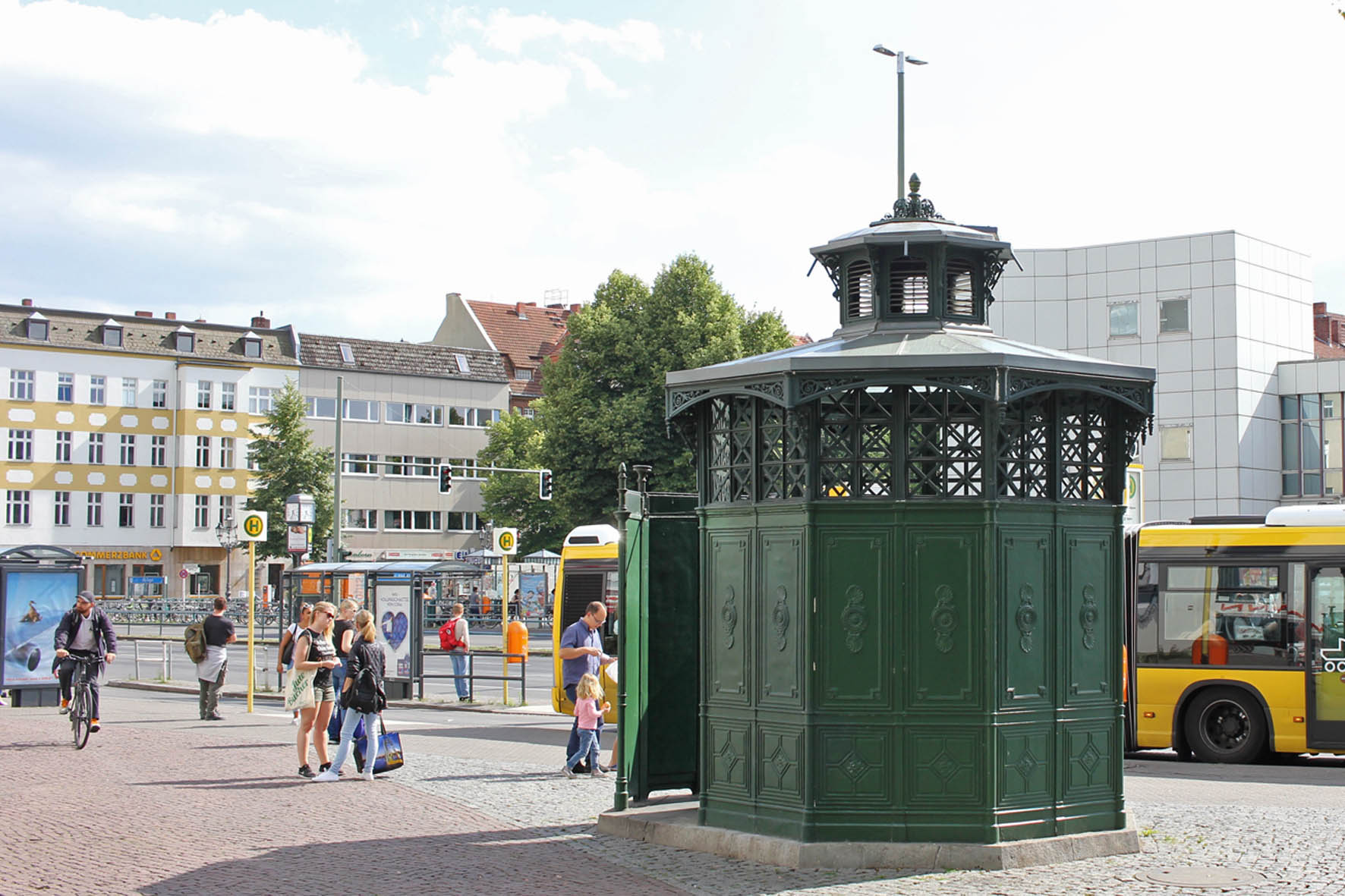 Café Achteck - Alt-Tegel - an example of Berlin's classic 19th century green cast iron public toilets
