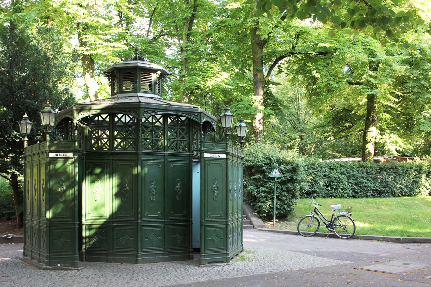 Café Achteck - Rüdesheimer Platz - an example of Berlin's classic 19th century green cast iron public toilets