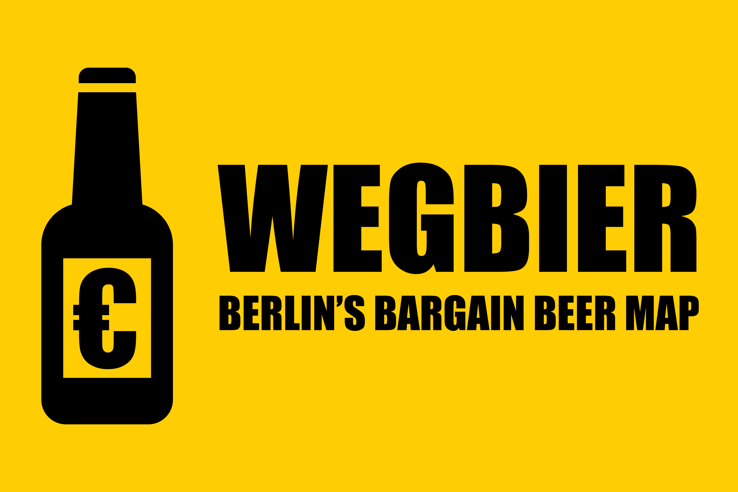 Wegbier: Berlin's Bargain Beer Map Logo - Where to get a cold half-litre bottle of Berliner Kindl Jubiläums Pilsener for 1€ or less in the German capital.