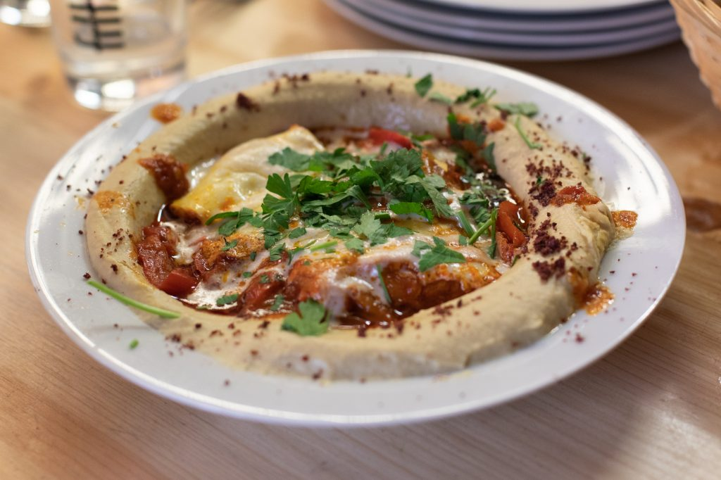 Hummshuka at Kanaan in Berlin, a modern Middle Eastern restaurant run by an Israeli and a Palestinian